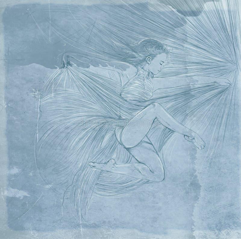 Bailarín del acróbata ilustración del vector