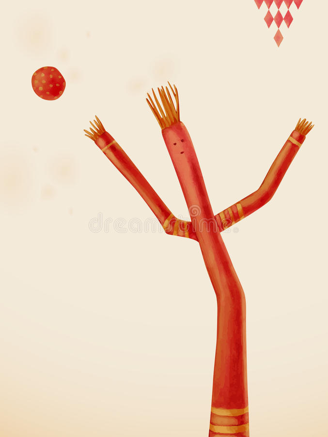 Bailarín del aire ilustración del vector