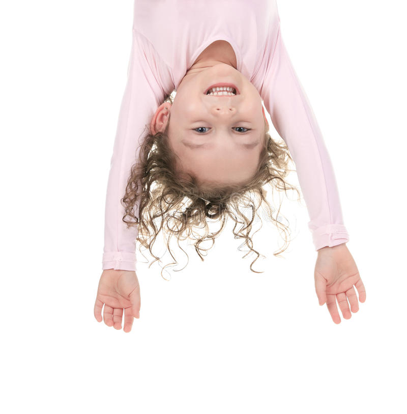 Bailarín del balerina de la niña al revés foto de archivo libre de regalías