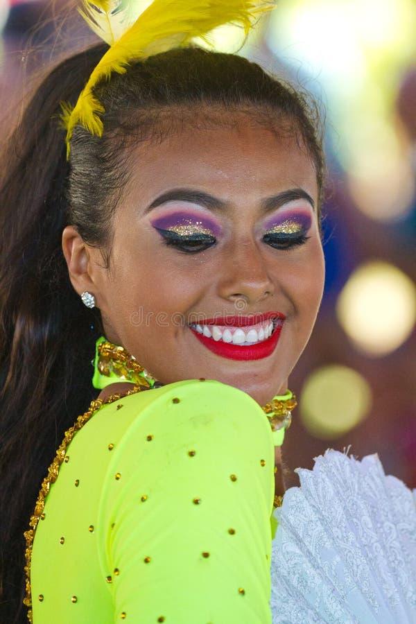 Bailarín del carnaval de México fotografía de archivo