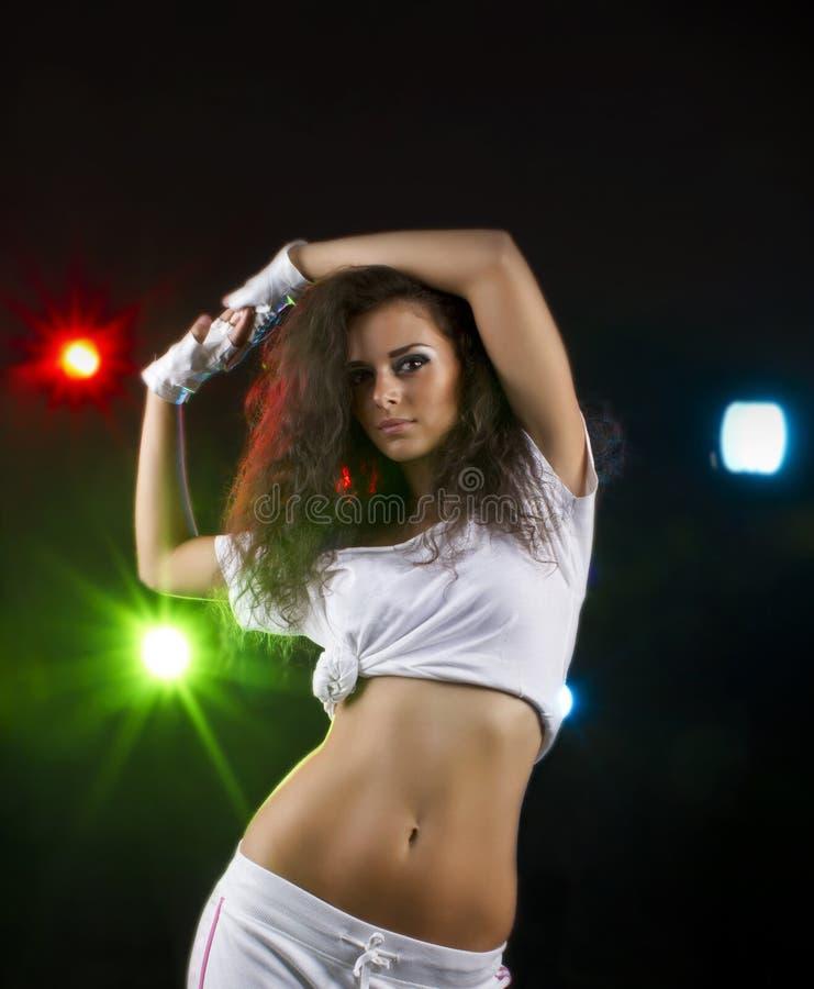 Bailarín del club imagen de archivo