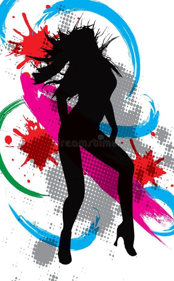 Bailarín del disco de la ilustración ilustración del vector