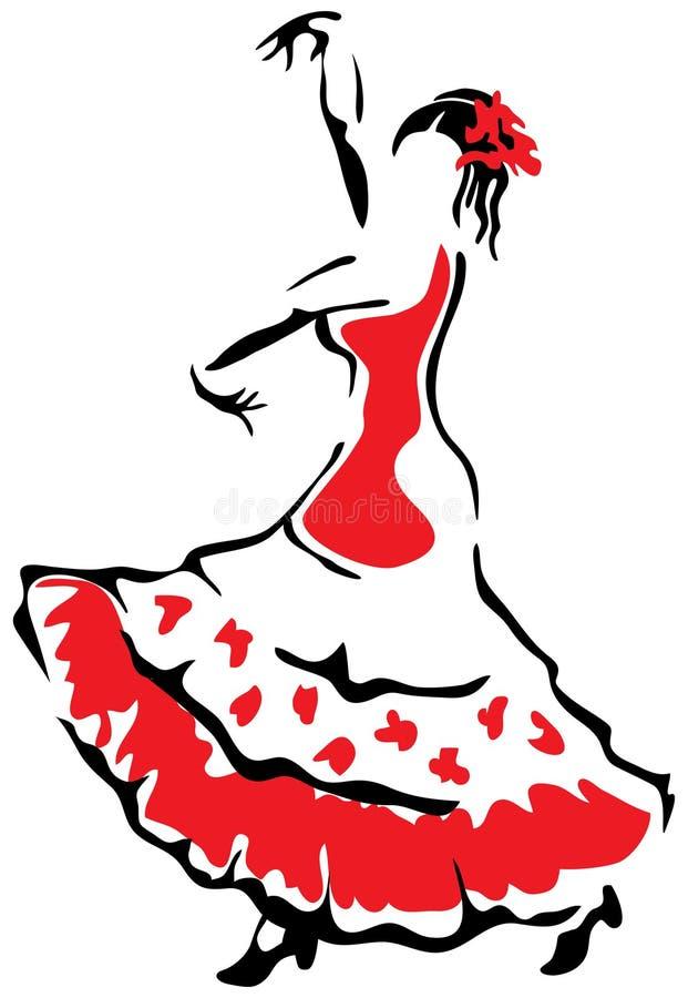 Bailarín del flamenco. ilustración del vector