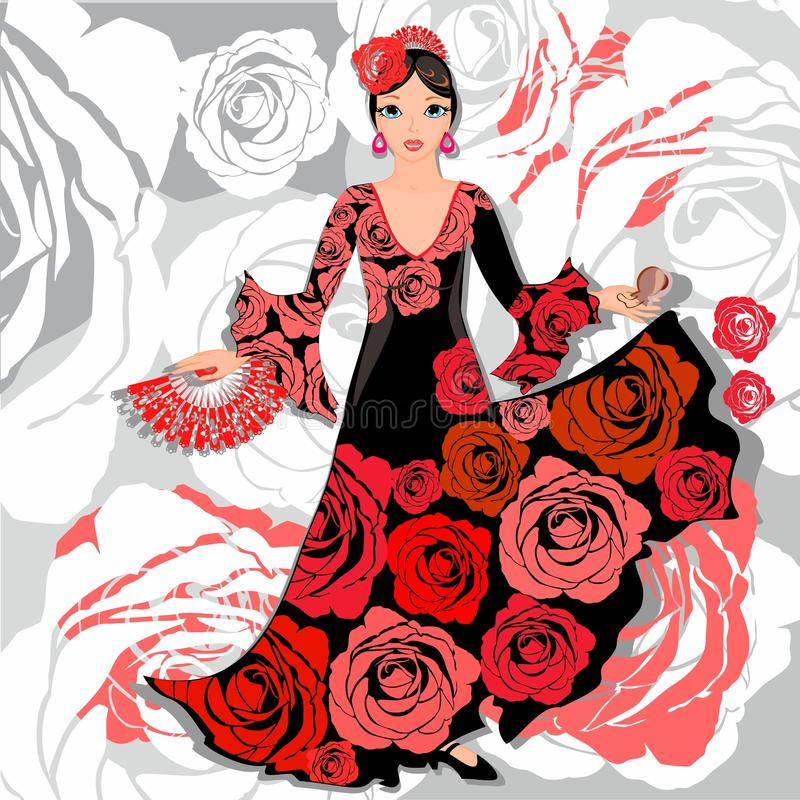Bailarín del flamenco libre illustration
