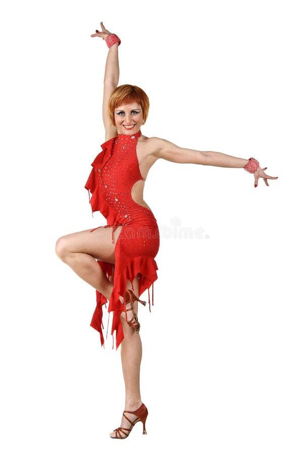 Bailarín del Latino en la acción imágenes de archivo libres de regalías