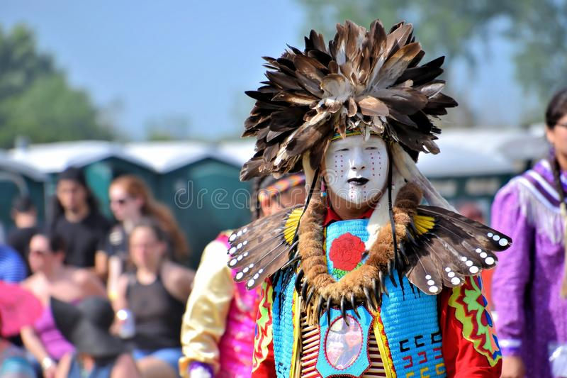 Bailarín del nativo americano foto de archivo libre de regalías