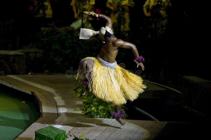 Bailarín del ventilador del Fijian imagen de archivo libre de regalías