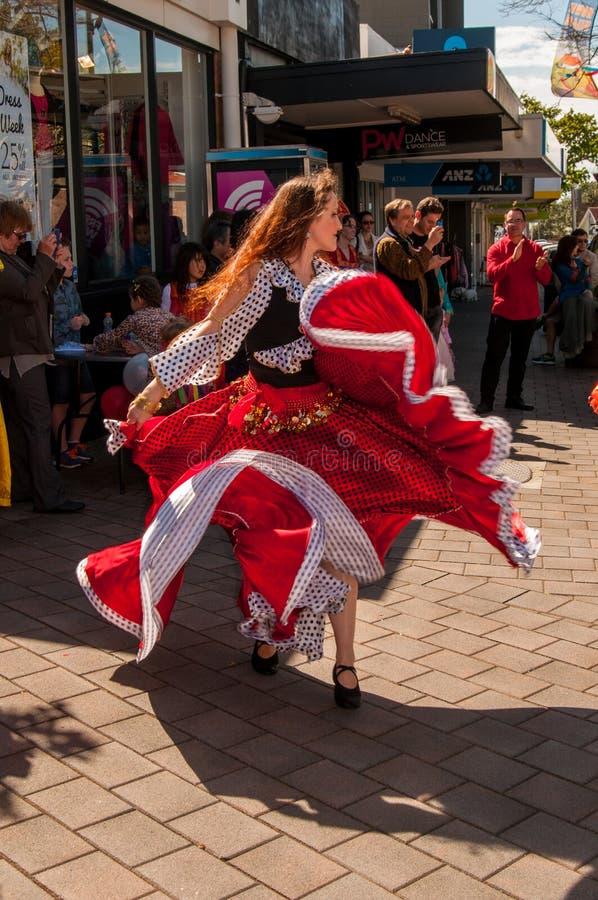 Bailarín en el día Auckland de Rusia fotos de archivo libres de regalías