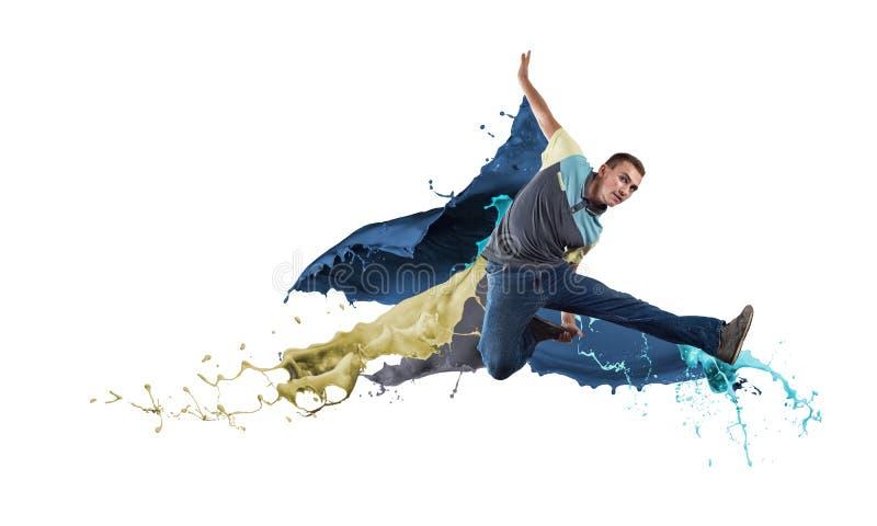 Bailarín en salto imagenes de archivo