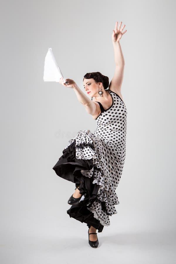Bailarín español de sexo femenino del flamenco fotos de archivo