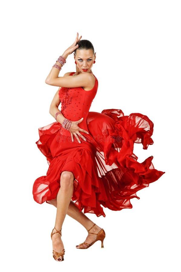Bailarín hermoso del Latino en la acción imagen de archivo