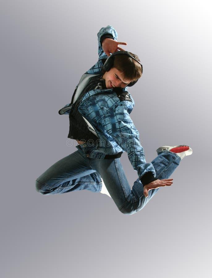 Bailarín joven de salto fotografía de archivo