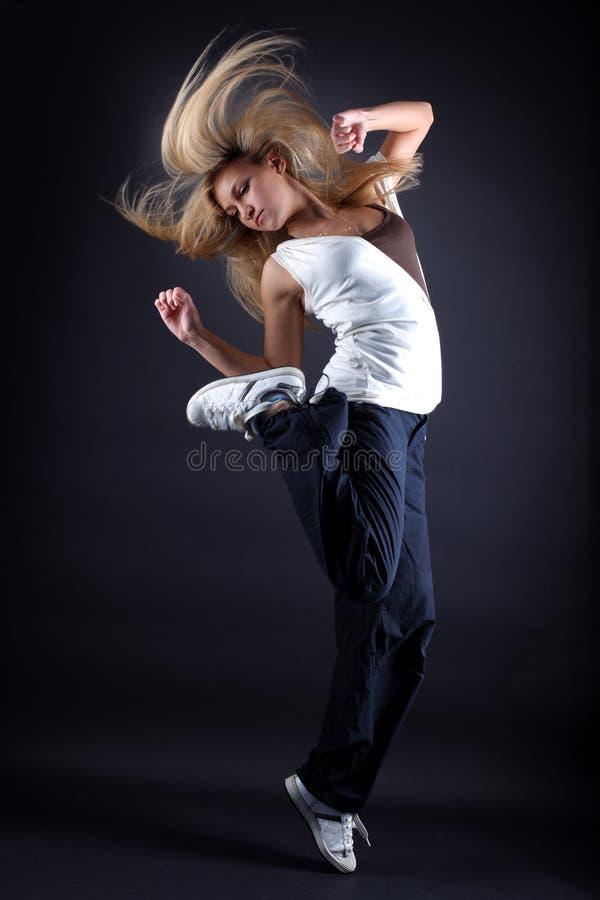 Bailarín moderno de la mujer foto de archivo