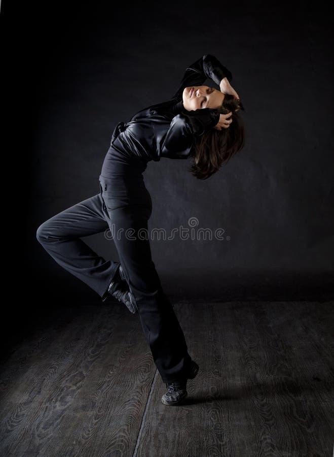 Bailarín moderno de la mujer del estilo imagenes de archivo