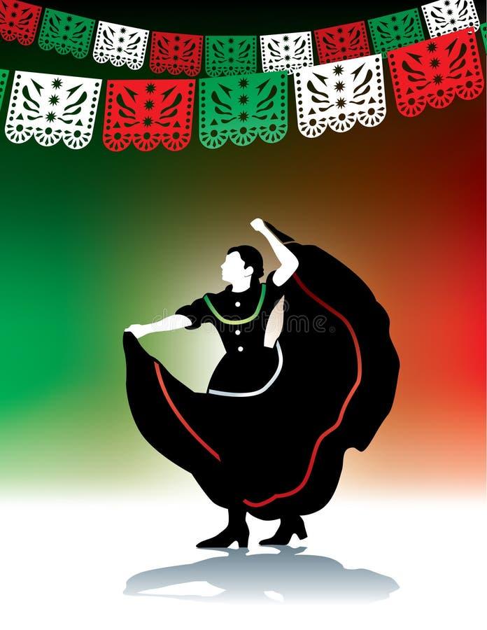 Bailarín popular mexicano libre illustration