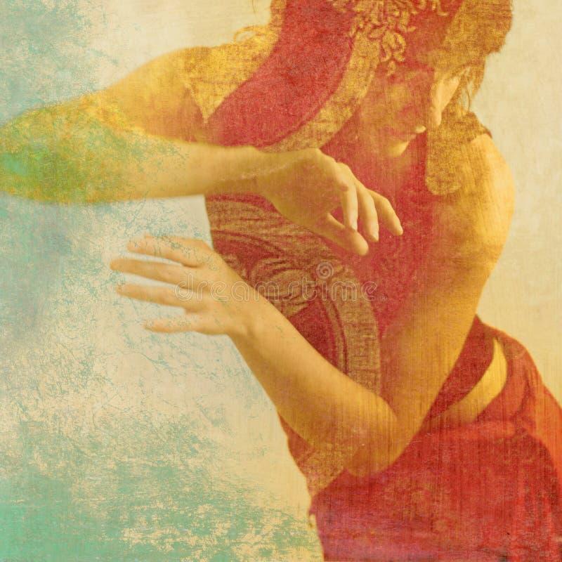 Bailarín sagrado Dancing de la mujer imágenes de archivo libres de regalías