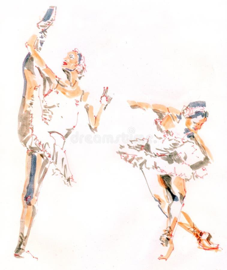 Bailarina stock de ilustración