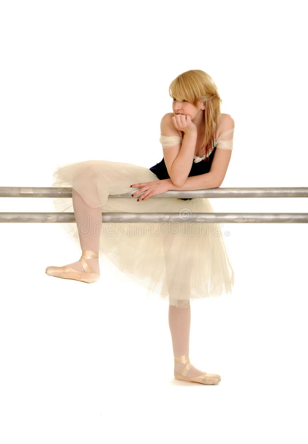 Bailarina aburrida foto de archivo
