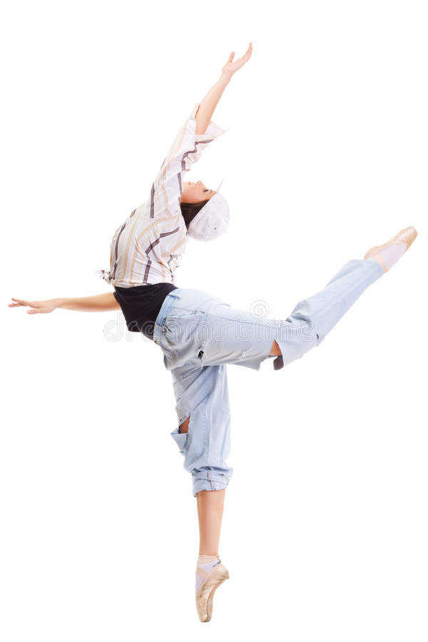 Bailarina & lúpulo do quadril imagem de stock