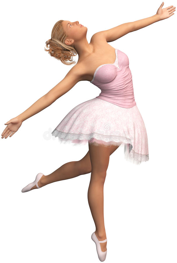 Bailarina, bailado, dança, dançarino, isolado ilustração do vetor