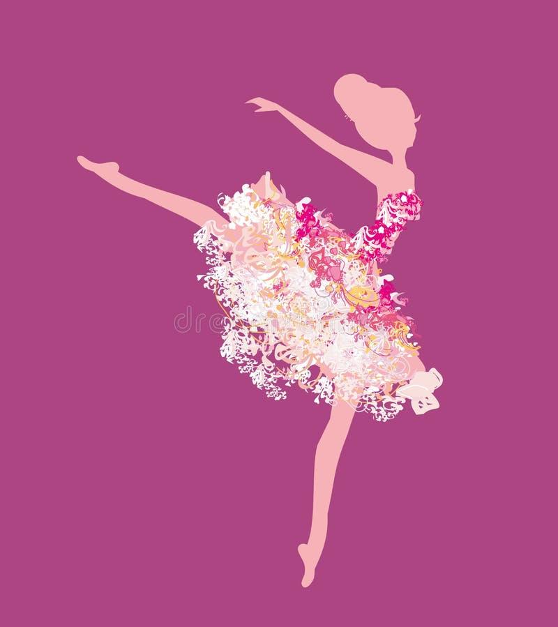 Bailarina bonita do vintage ilustração do vetor