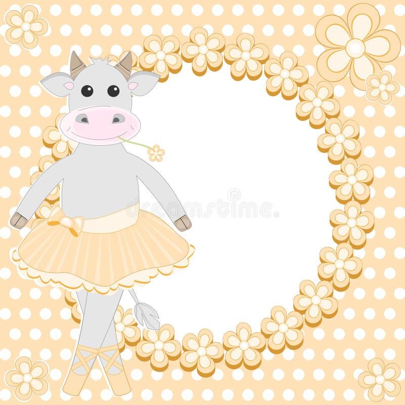 Bailarina bonito da vaca ilustração stock