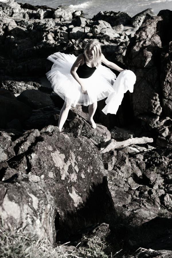 Bailarina de la escalada fotos de archivo
