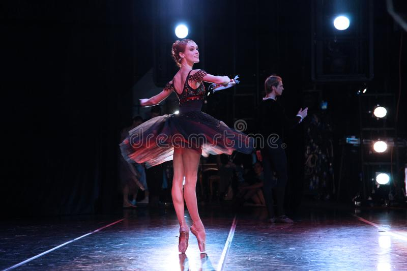 Bailarina de Prima do teatro Ulyana Lopatkina de Mariinsky e assim imagem de stock