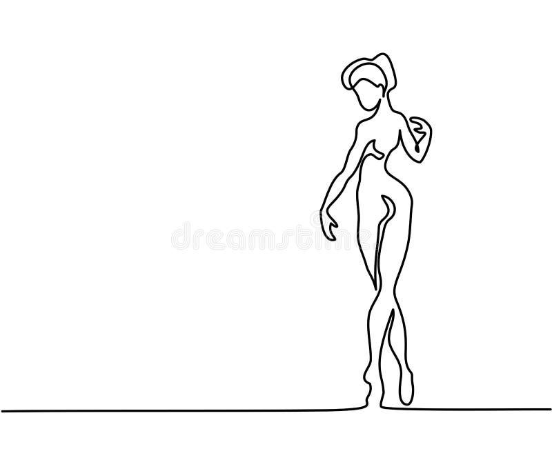 Bailarina del bailarín de ballet ilustración del vector