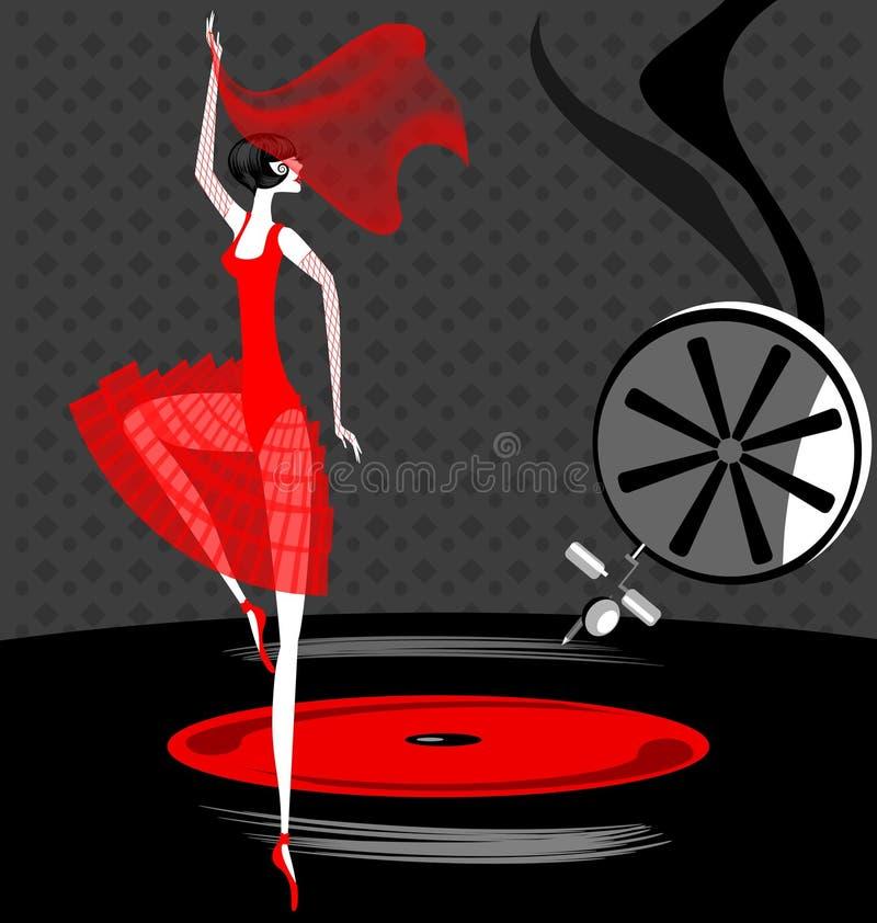 bailarina en rojo libre illustration