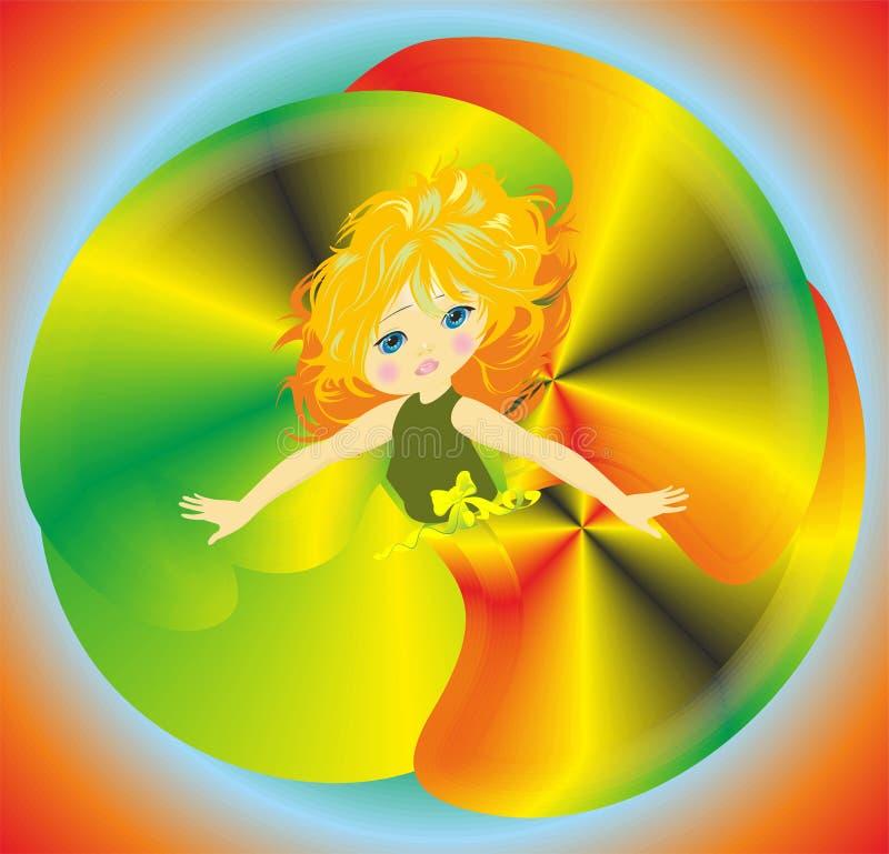 Bailarina en un vestido que remolina libre illustration