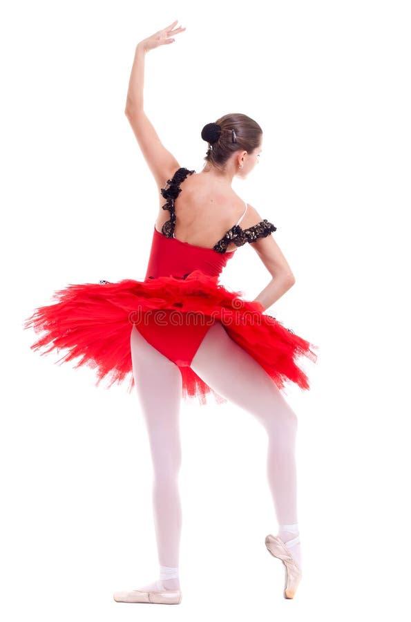 Bailarina en una posición de ballet foto de archivo