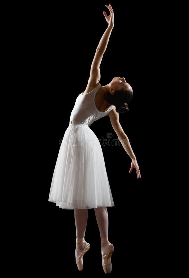 Bailarina isolada na versão preta fotos de stock royalty free