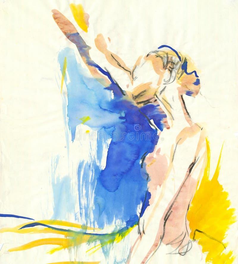 Bailarina joven libre illustration