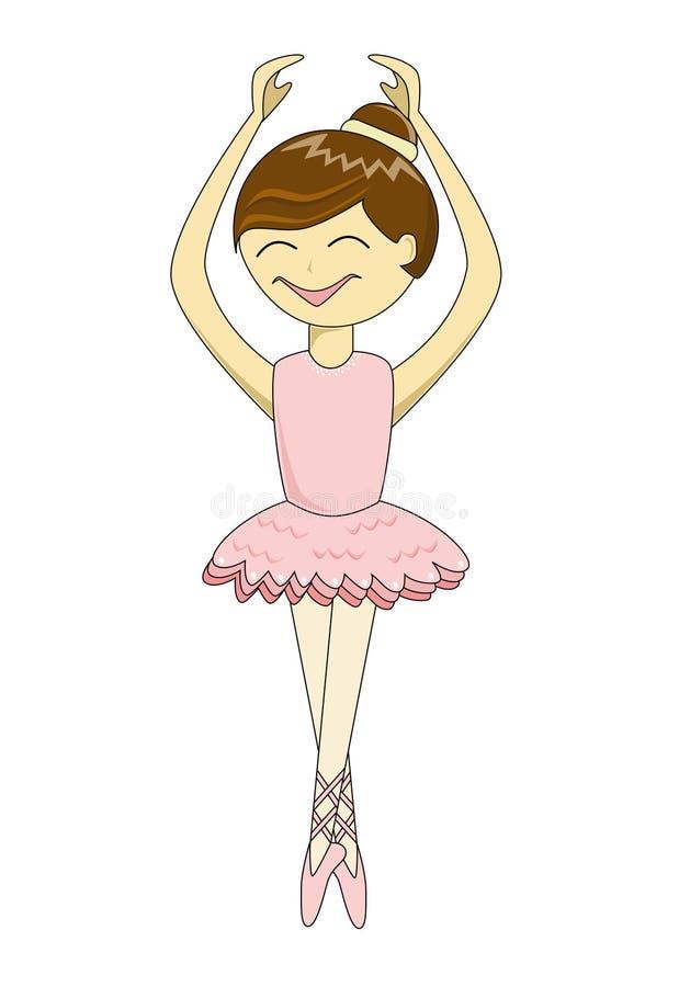 Bailarina linda de la historieta ilustración del vector