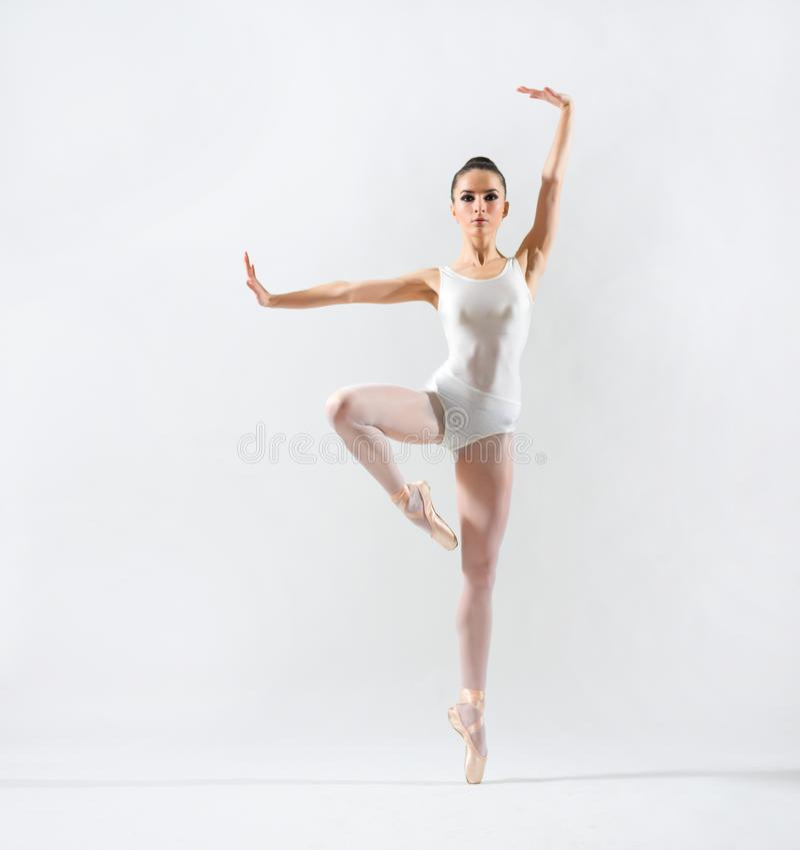 Bailarina na versão cinzenta imagens de stock royalty free