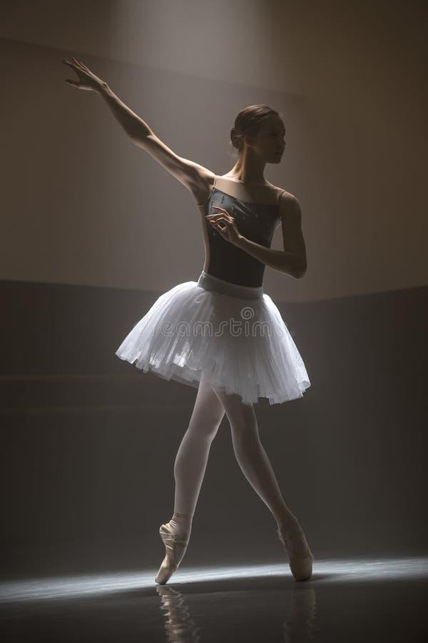 Bailarina no tutu branco imagem de stock royalty free