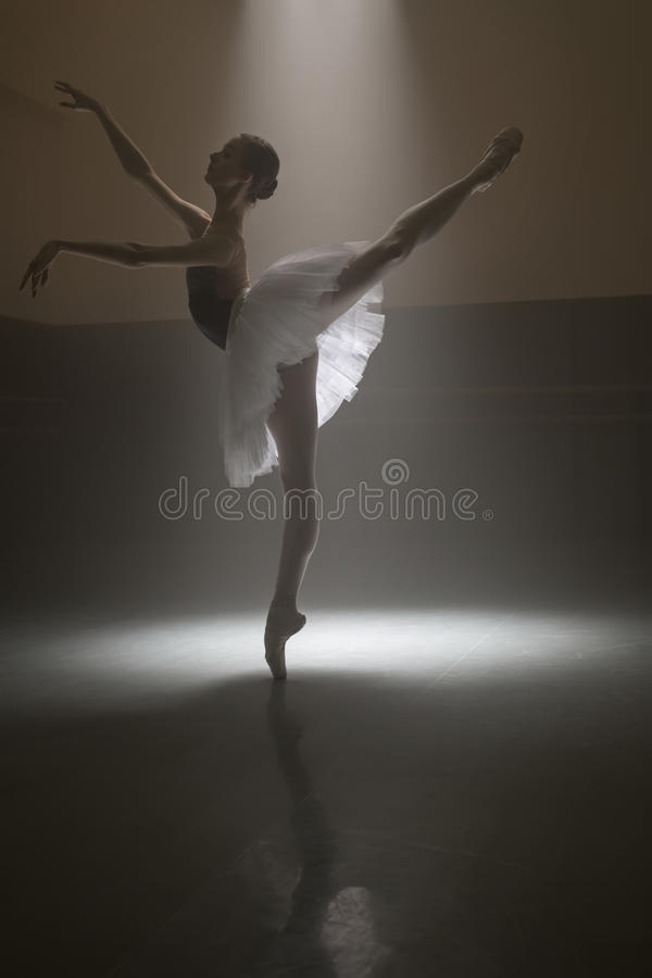 Bailarina no tutu branco fotografia de stock