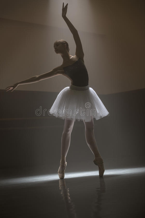 Bailarina no tutu branco imagens de stock