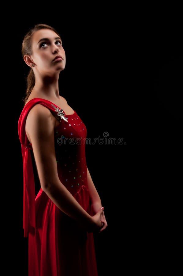 Bailarina pensativa fotografía de archivo