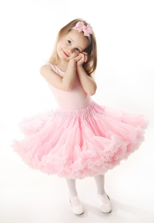 Bailarina pré-escolar bonita imagem de stock
