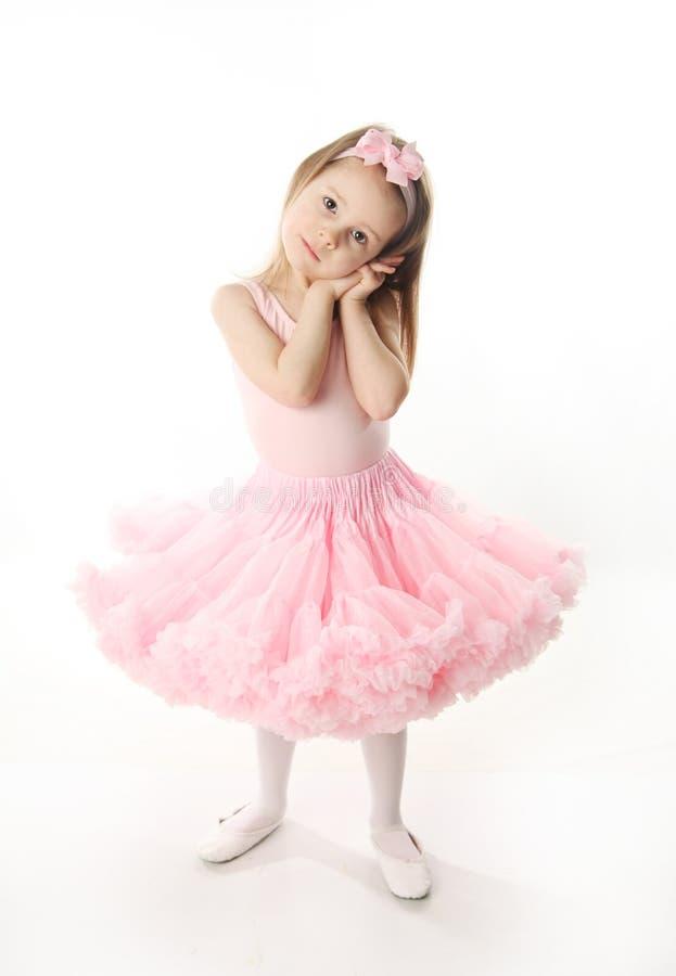 Bailarina preescolar bonita fotografía de archivo