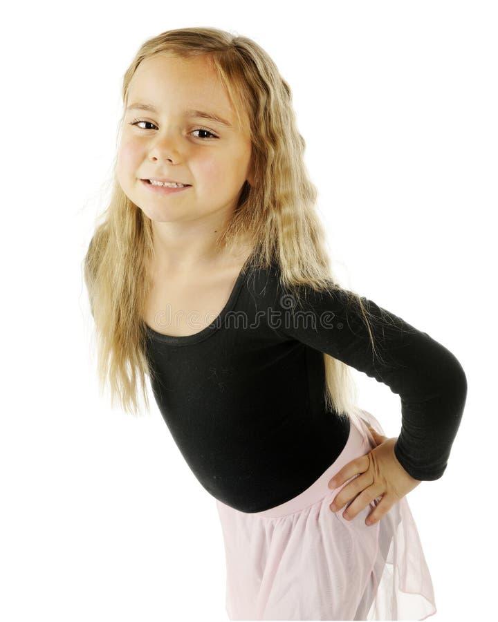 Bailarina que le mira foto de archivo