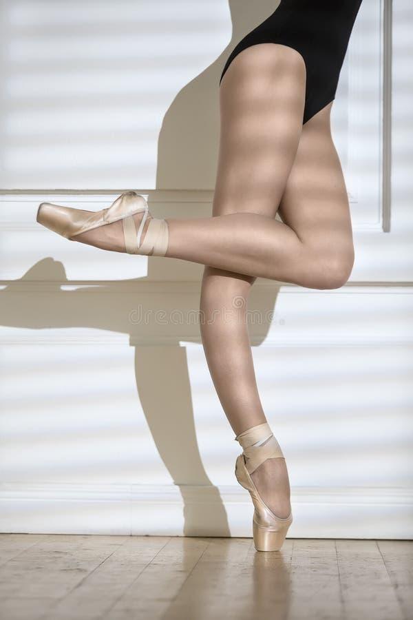 Bailarina que levanta no estúdio fotografia de stock