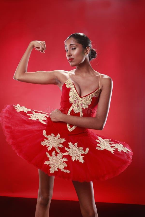 Bailarina resistente imagen de archivo
