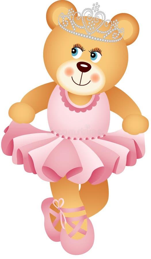 Bailarina Teddy Bear ilustração royalty free