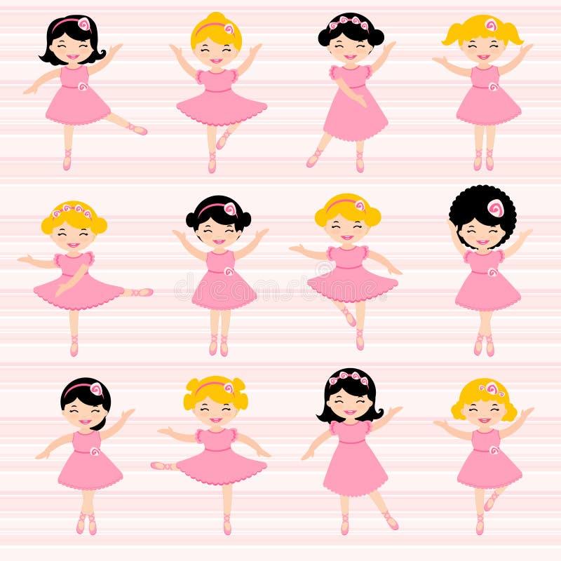 Bailarinas bonitas ilustração do vetor