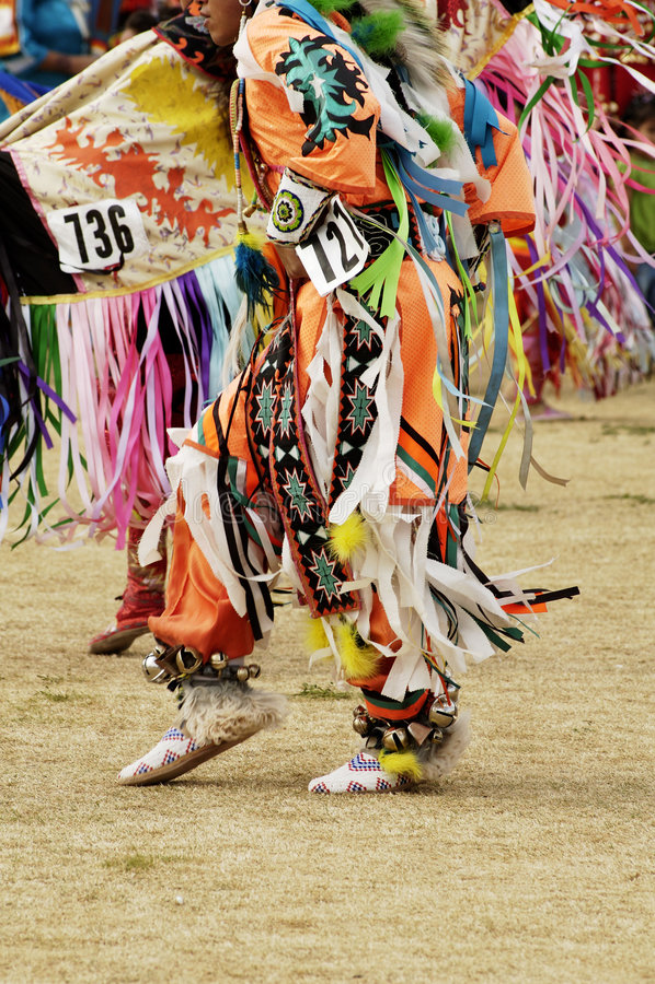 Bailarines 10 del Powwow foto de archivo libre de regalías