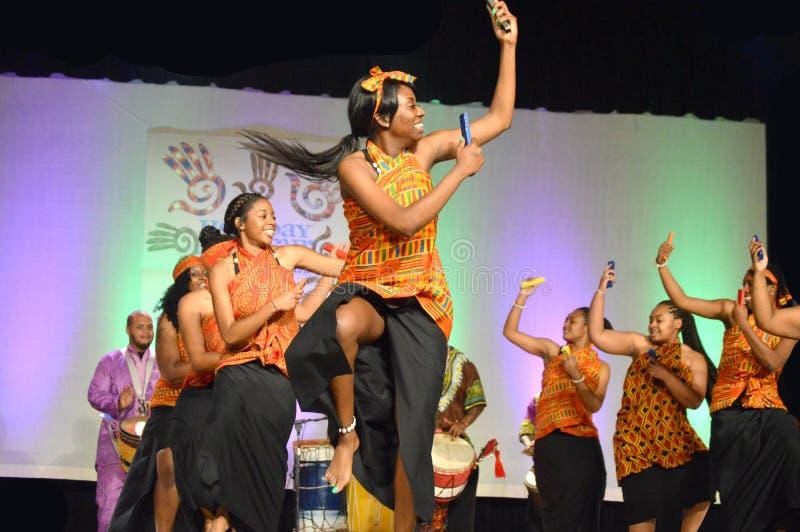 Bailarines afroamericanos imagen de archivo