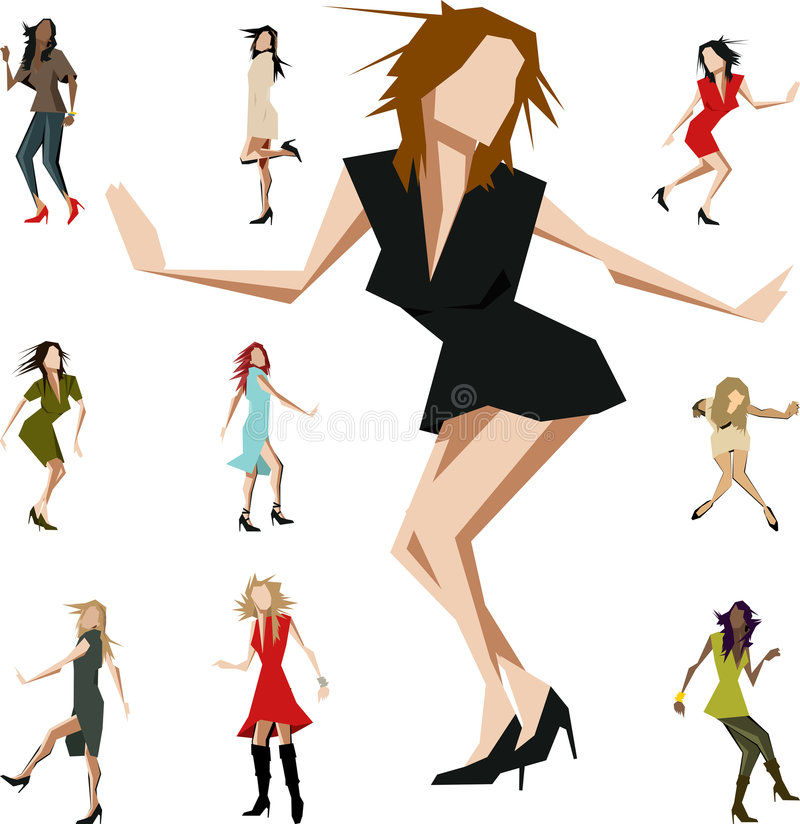 Bailarines angulares libre illustration